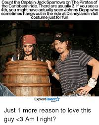 Pirates Of The Caribbean Memes - count the captain jack sparrows on the pirates of the caribbean ride
