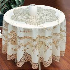cheap lace overlays tables european style gold sequin round tablecloth overlay table cloth for