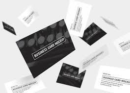 Business Cards Mockups Business Cards Mockup 85x55 Mm Mockups Design Free Premium