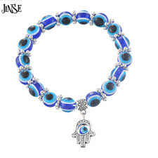 evil eye beaded bracelet images 20 27day delivery jinse hamsa fatima hand muslim turkish blue jpg