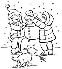 printable winter coloring pages winter colors snowman winter