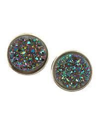 druzy stud earrings dara ettinger stardust small druzy stud earrings