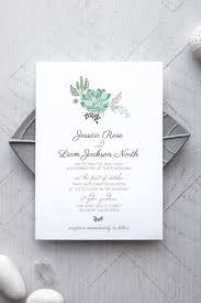 succulent printable wedding invitation alchemie press