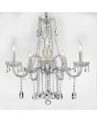 harrison lane 5 light crystal chandelier new savings on harrison lane empress crystal 5 light clear crystal