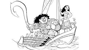 u0027ll love printable moana coloring pages d23