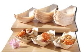 mini canape bamboo wood boats large standard mini 50 100 100 for foods