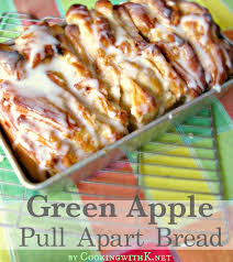 cooking with k green apple pull apart bread using rhodes frozen