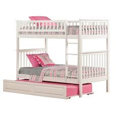 Woodland Bunk Bed Atlantic Furniture Ab56 Woodland Bunk Bed With Trundle Bed The Mine