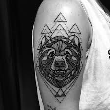 Machine Tattoo Ideas Blackwork Grizzly Bear Tattooed By Noelle Lamonica Divine Machine