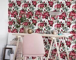dark floral wallpaper dark vintage wallpaper peel and stick