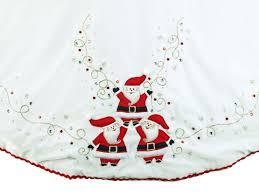 tree skirts 56 white velvet santa tree skirt