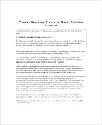 12 strategy meeting agenda templates u2013 free sample example