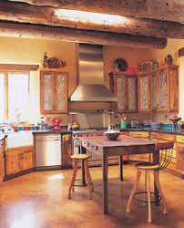 Southwestern Kitchen With Punched Tin Cabinet Door Love The - Southwest kitchen cabinets