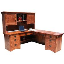 mission oak corner computer desk pine office desk the mission oak l shaped desk is perfect for