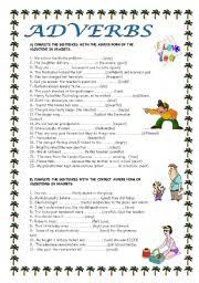 adverbs of manner worksheet by ana maría