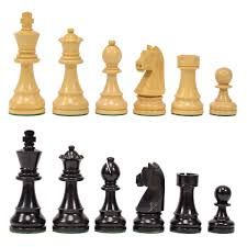Chess Piece Designs by Quality Wood Chess Pieces With 3 3 4