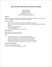 administration resume objective exles business