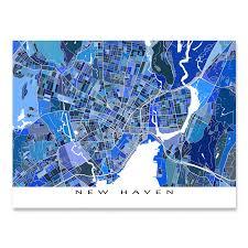Yale Map New Haven Map Art Print Connecticut Yale University U2013 Maps As Art