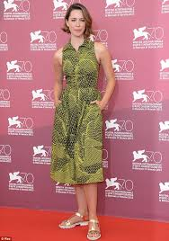 rebecca hall ruins her stylish dress with ugly sandals at the