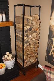 Diy Firewood Storage Rack Plans by Diy Plumbing Pipe Log Holder Diy Pinterest Log Holder