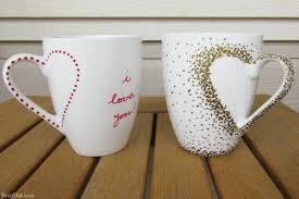 Heart Shaped Mugs Diy Craft Project Sharpie Mug Tutorial Bren Did