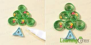 pandahall tutorial on how to make a 3d paper quilling christmas
