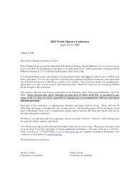 church conference invitation letter