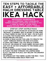 Ikea Malm Vanity Table Long Distance Loving