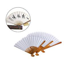held paper fans bamboo fan folding held paper fans calligraphy