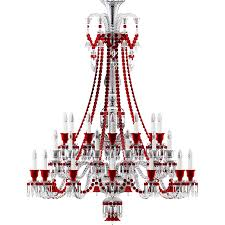 Red Chandelier by Cad And Bim Object Zenith Clear And Red Chandelier 36l Baccarat