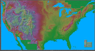 Western United States Map Shaded Relief Maps Of The United States