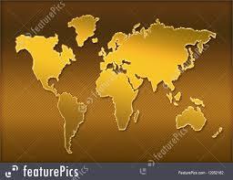World Map Silhouette World Map Silhouette Illustration