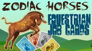equestrian cards zodiac horses howrse