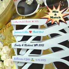 personalized sunglasses wedding favors custom sunglasses wedding favors free assembly free