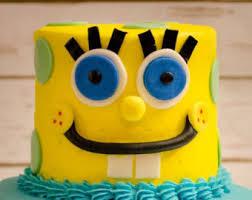 spongebob cake ideas spongebob cake etsy