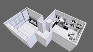 3d model apartment design cgtrader
