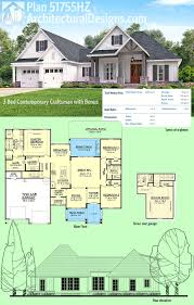 architectural designs house plans plan 51755hz 3 bed contemporary craftsman with bonus garage