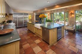 floor in spanish kitchen countertop kitchen in spanish with terra cotta tile and
