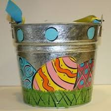 painted easter buckets these custom painted metal buckets shine bring with