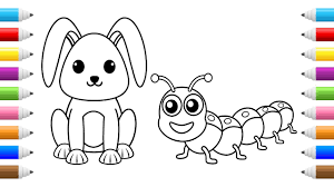 cute bunny coloring pages cute bunny coloring learn how to draw and color animals