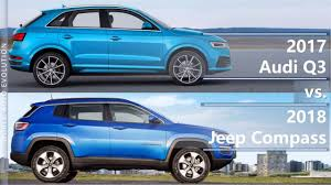 jeep compass 2017 trunk space 2017 audi q3 vs 2018 jeep compass technical comparison youtube