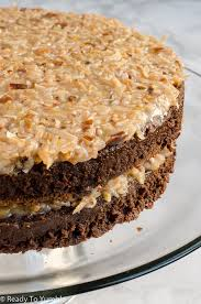 decadent german chocolate cake ready to yumble