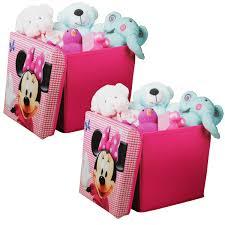 aufbewahrungsbox kinderzimmer 2er set disney minnie mouse canvas spielzeugkiste aufbewahrungsbox