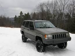 white jeep black rims lifted grand cherokee lift tire setup thread jeep cherokee forum