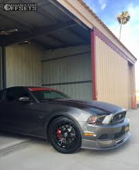 2014 Mustang Black Wheel Offset 2014 Ford Mustang Nearly Flush Lowering Springs