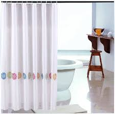 Shower Curtain Contemporary White Clear Shower Curtain Liner Flowers Contemporary Shower
