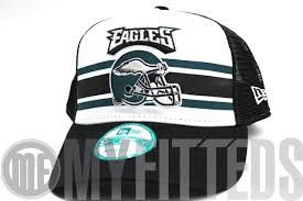 philadelphia eagles white midnight green era trucker cap