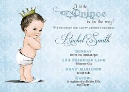 baby shower invitation boy and free thank you card vintage royal