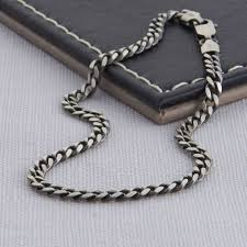 curb chain necklace mens images Sterling silver men 39 s curb chain bracelet by hurleyburley man jpg