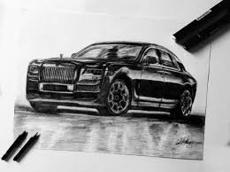 rolls royce racing rolls royce ghost drawing rolls royce car drawing car